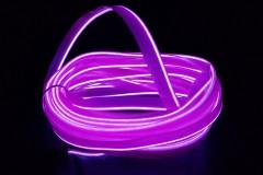 Неоновая лента для авто Neon Auto (Набор: 5м с кантом, блок питания) Фиолетовый