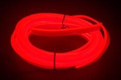 Неоновая лента для авто Neon Auto (Набор: 5м с кантом, блок питания) Красный