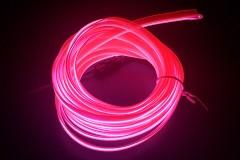 Неоновая лента для авто Neon Auto (Набор: 5м с кантом, блок питания) Розовый