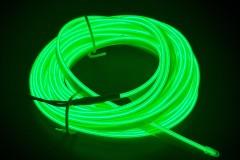 Неоновая лента для авто Neon Auto (Набор: 5м с кантом, блок питания) Зеленый