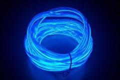 Неоновая лента для авто Neon Auto (Набор: 5м с кантом, блок питания) Синий
