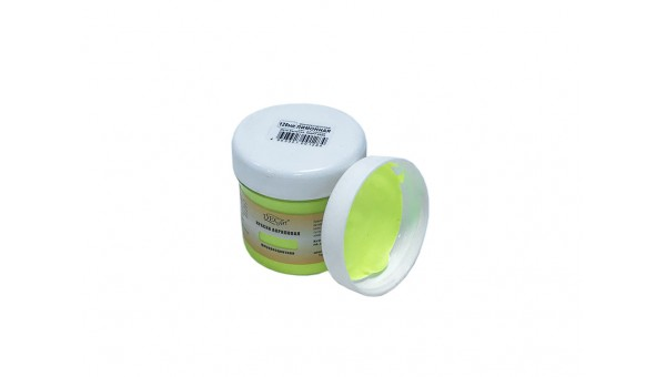 Краска DecART флуоресцентная (акриловая на водной основе) Лимонная 100г