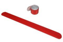 """Браслет светоотражающий самозакрепляющийся """"мягкий пластик"""", всепогодный, цвет: красный, 3х30 см"""