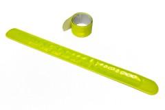"""Браслет светоотражающий самозакрепляющийся """"мягкий пластик"""", всепогодный, цвет: лимонный, 3х30 см"""
