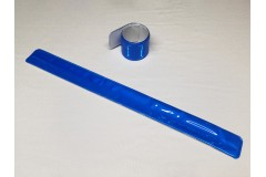 """Браслет светоотражающий самозакрепляющийся """"мягкий пластик"""", всепогодный, цвет: синий, 3х30 см"""