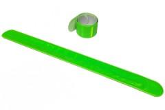 """Браслет светоотражающий самозакрепляющийся """"мягкий пластик"""", всепогодный, цвет: зеленый, 3х30 см"""