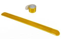"""Браслет светоотражающий самозакрепляющийся """"мягкий пластик"""", всепогодный, цвет: желтый хром, 3х30 см"""