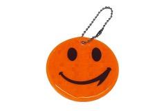 """Брелок """"СМАЙЛ"""" светоотражающий, всепогодный, цвет: оранжевый, размер 6 см"""