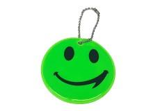 """Брелок """"СМАЙЛ"""" светоотражающий, всепогодный, цвет: зеленый, размер 6 см"""