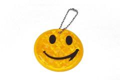 """Брелок """"СМАЙЛ"""" светоотражающий, всепогодный, цвет: желтый хром, размер 6 см"""