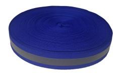 Лента светоотражающая, синяя с серой полосой влагозащищенная, ширина 20 мм, 1 метр
