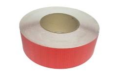 Лента светоотражающая призматическая (световозвращающая) самоклеющая, цвет: красный, длина 1 метр, ширина 5 см