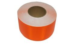 Лента светоотражающая призматическая (световозвращающая) самоклеющая, цвет: оранжевый, длина 1 метр, ширина 5 см