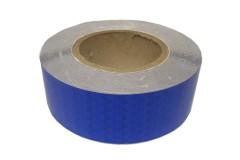 Лента светоотражающая призматическая (световозвращающая) самоклеющая, цвет: синий, длина 1 метр, ширина 5 см