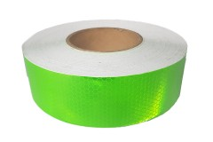 Лента светоотражающая призматическая (световозвращающая) самоклеющая, цвет: зеленый, длина 1 метр, ширина 5 см