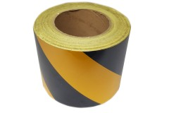 Лента световозвращающая Reflective под 45 градусов самоклеющаяся (Желто-черная) 1 метр, ширина 100мм