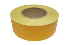 Лента световозвращающая Reflective самоклеющаяся (Желтая) 1 метр, ширина 50мм